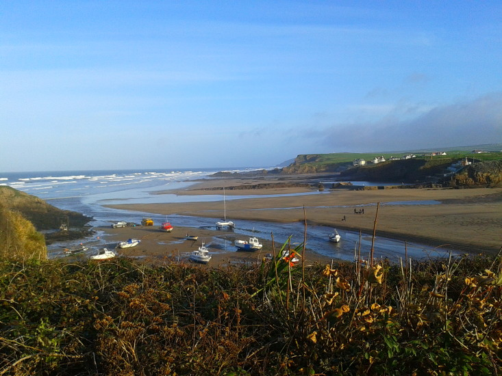 Crooklets from Efford Down at low tide