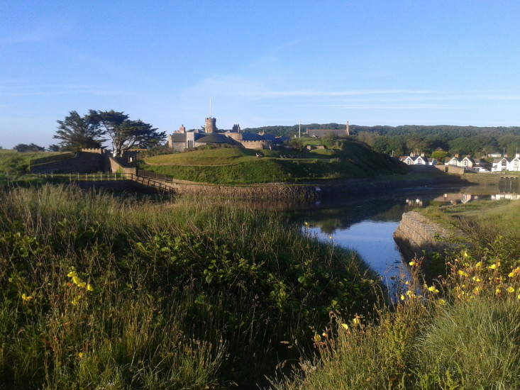 Bude castle and moat