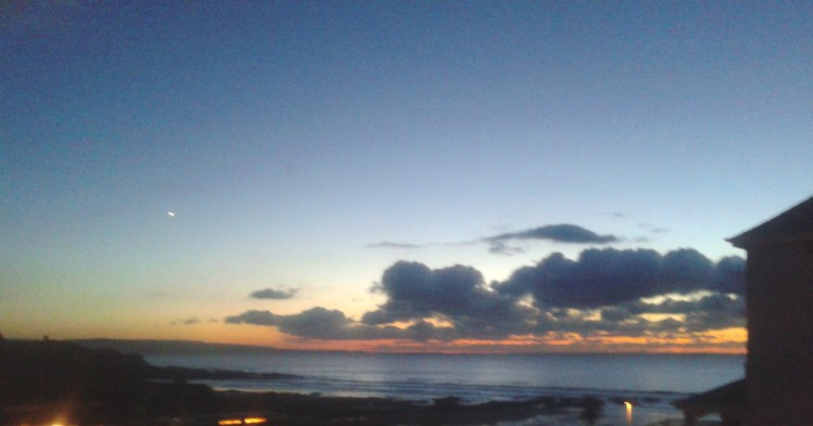 Sunset-with-Venus Autumn storms to winter frosts. Wet and windy to warm and sunny. Bude beautiful!!