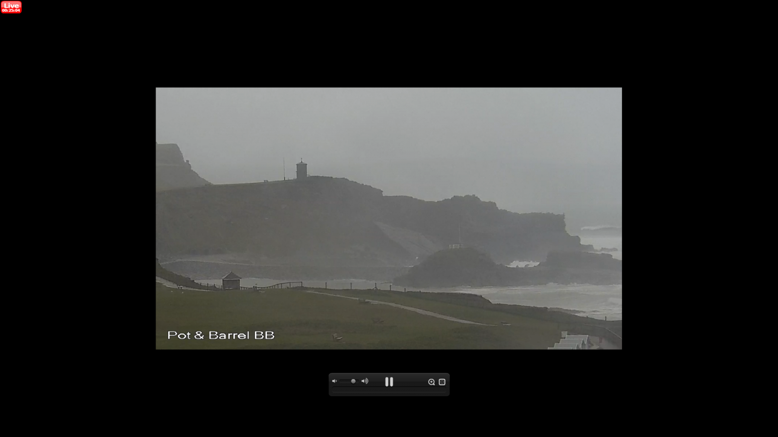 170306wc-2 Todays screenshot from webcam. Approx 1 hour to high tide on a quiet morning in Bude