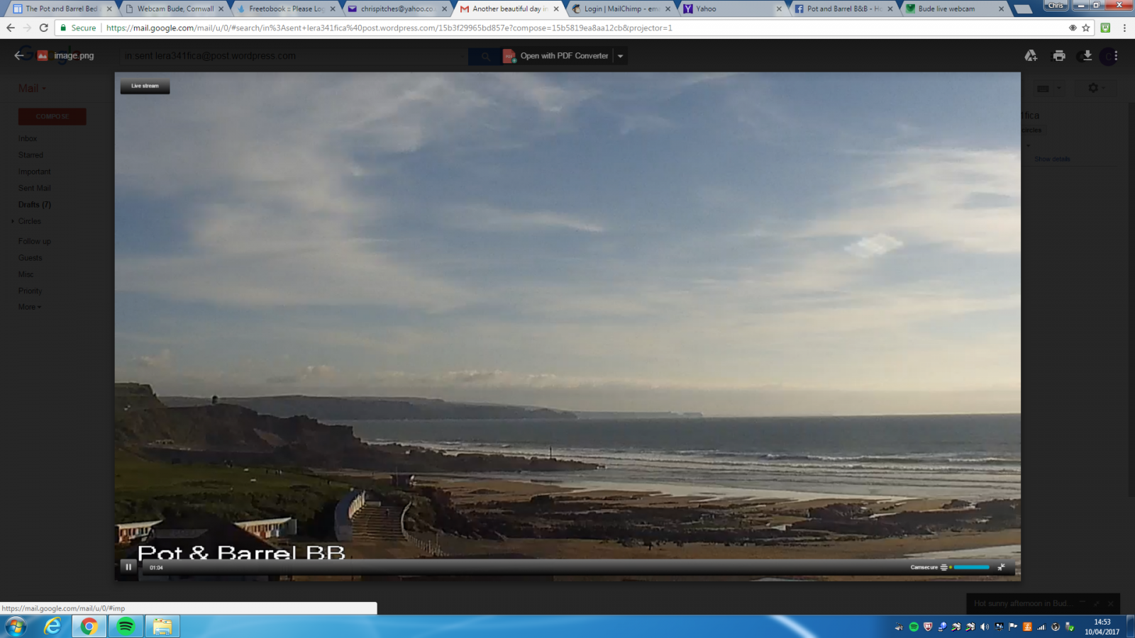 image Another hot sunny afternoon in Bude with Easter on its way - looking good!